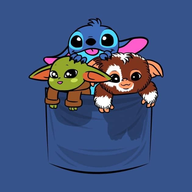 Stitch Gizmo Baby Yoda Cute Cartoon Wallpapers Baby Disney Characters Yoda Wallpaper