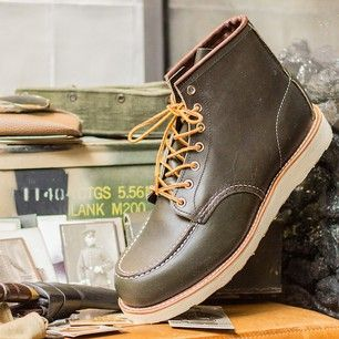 """Red Wing Shoes - Red Wing Shoes - 8180 6"""" Classic Moc Green Kanga"""