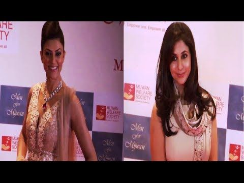 Sushmita Sen and Urmila Matondkar at MEN FOR MIJWAN fashion show.