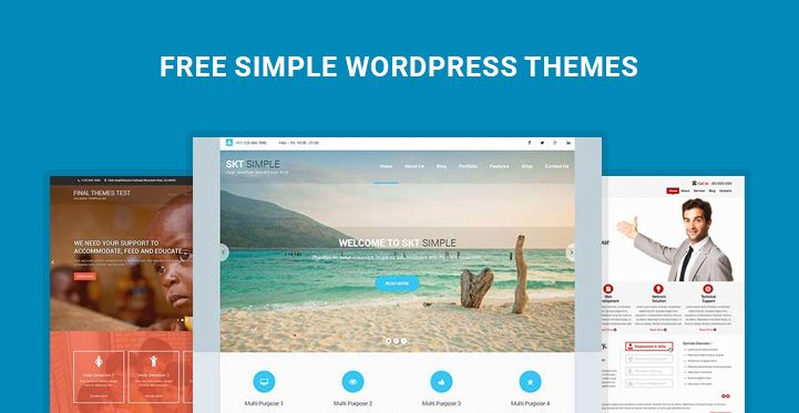 Free Simple WordPress Themes for Simple Website Building