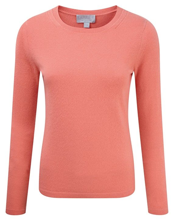 GABRIELLE'S AMAZING FANTASY CLOSET | Pure Collection's Coral Cashmere Crew Neck Sweater | You can see the rest of the Outfit and my Remarks on this board. - Gabrielle