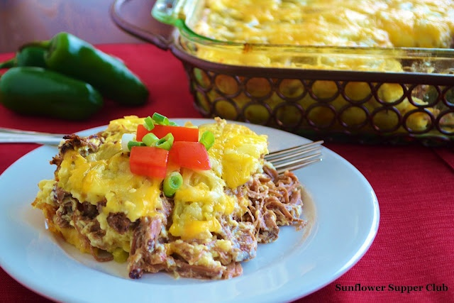 Chile Relleno Bake (Includes recipe for Mexican Style Shredded Beef)