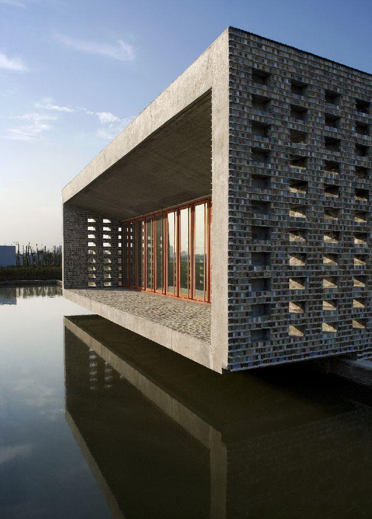 """""""La maison en céramique"""" par Wang Shu."""