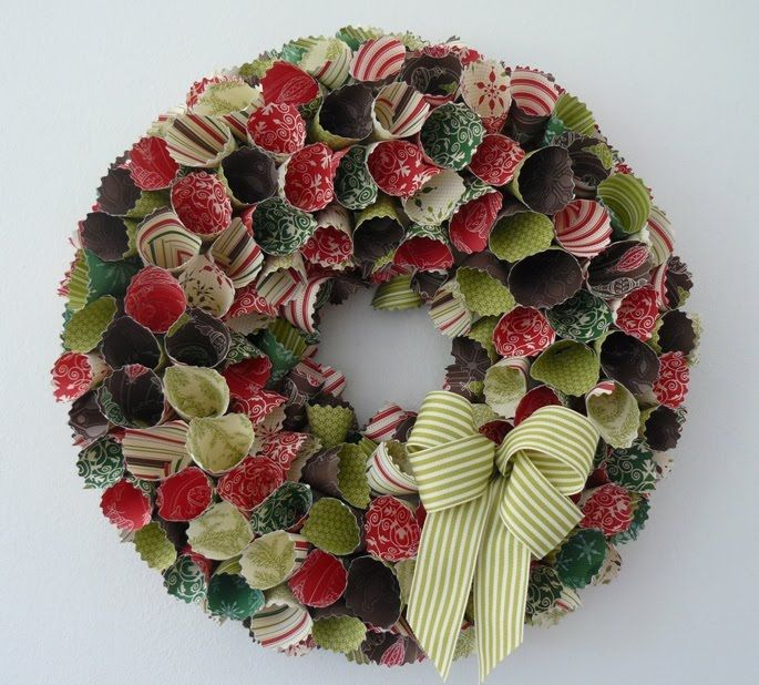 Stampin Up Christmas Craft Fair Ideas Part - 33: My Stampin Up Paper Wreath · Felt ChristmasChristmas ProjectsChristmas ...