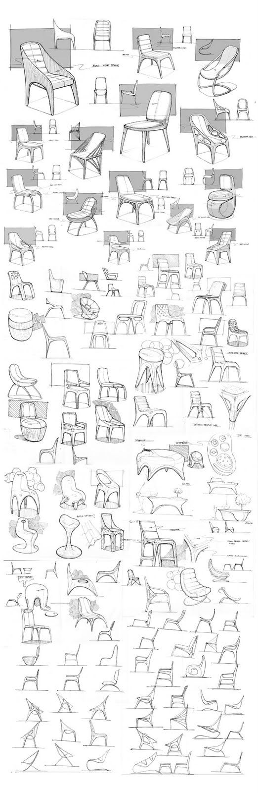 Furniture Renderings : Seating