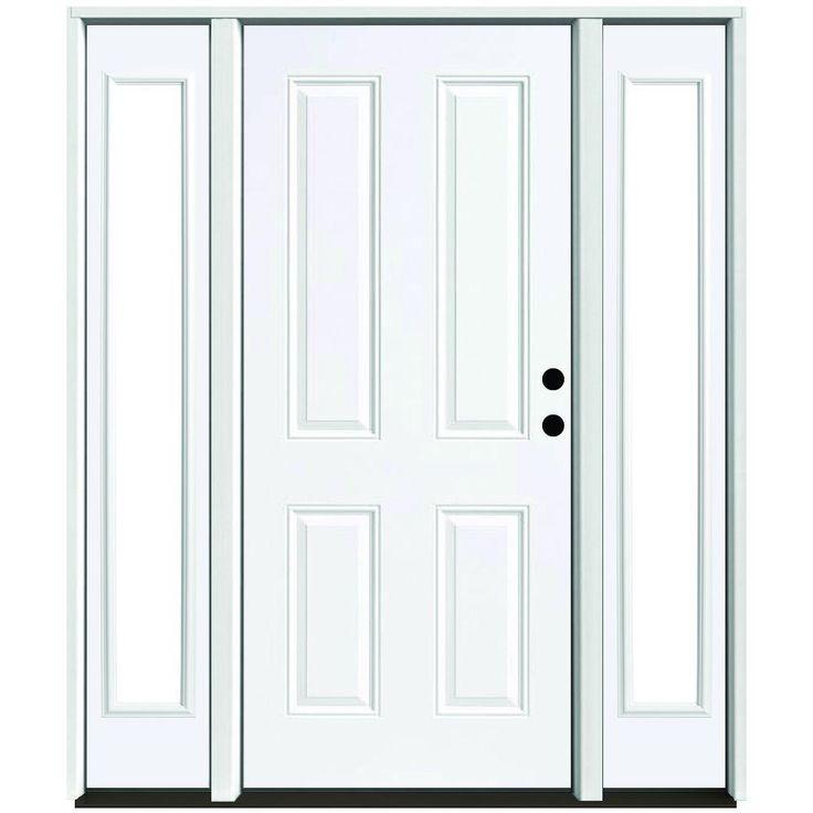 Steves sons 64 in x 80 in 4 panel primed white left for 6 window panel front door