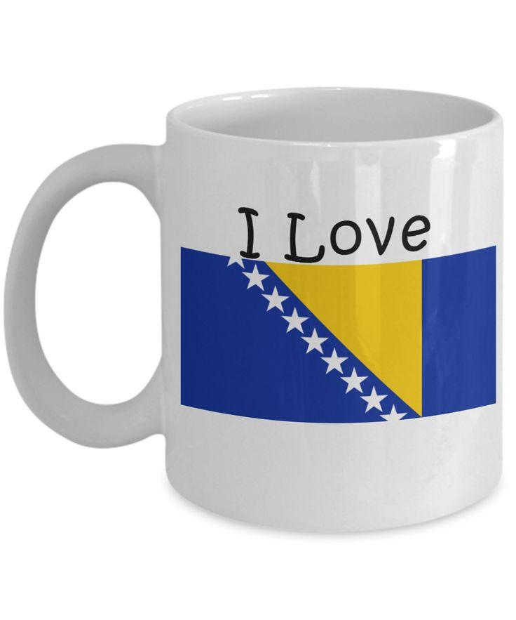I Love Bosnia And Herzegovina Coffee Mug With A Flag