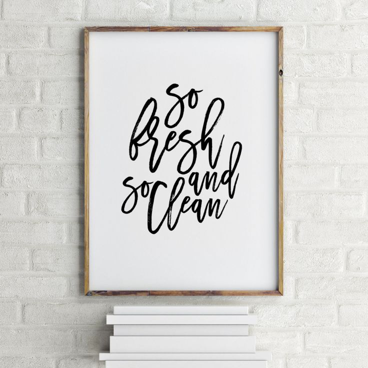 so fresh and so clean clean printable - Google Search