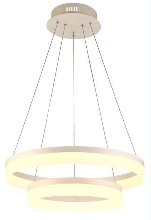 Lampa wisząca zwis żyrandol Zuma Line Circle 70W LED biała L-CD-01