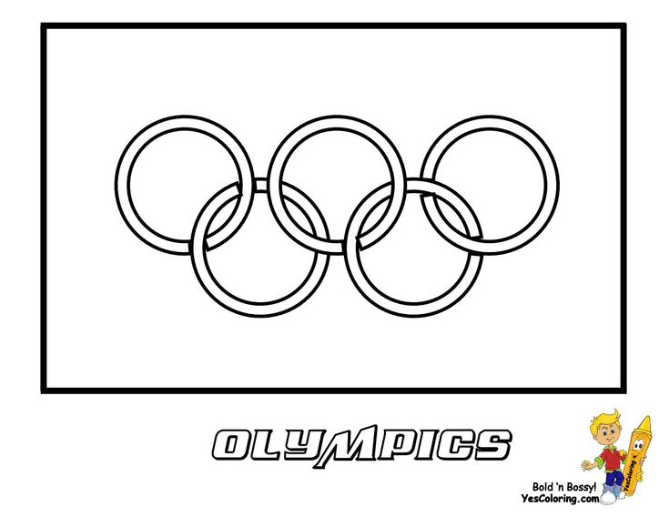 Print Out This Olympics Flag Coloring Page Come Over To