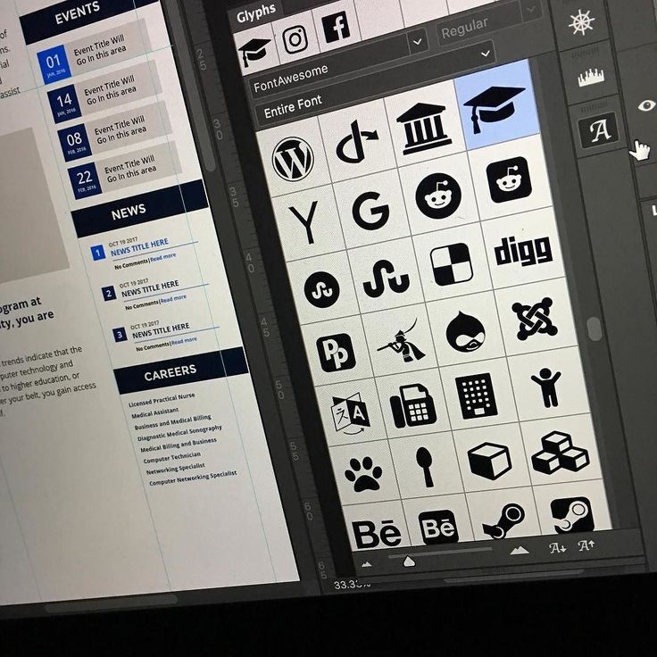 Love the Font Awesome icons. adobecreativecloud font