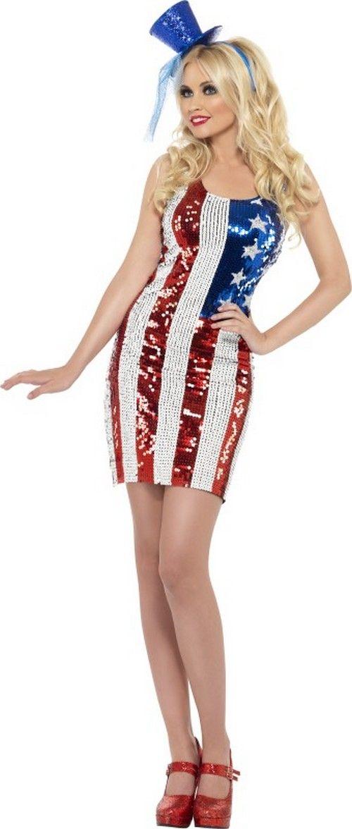Amerikaans Kostuum Voor Dames Usa Pinterest Costumes Dresses
