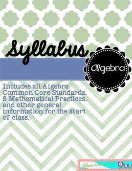 #Math Syllabus: #Algebra