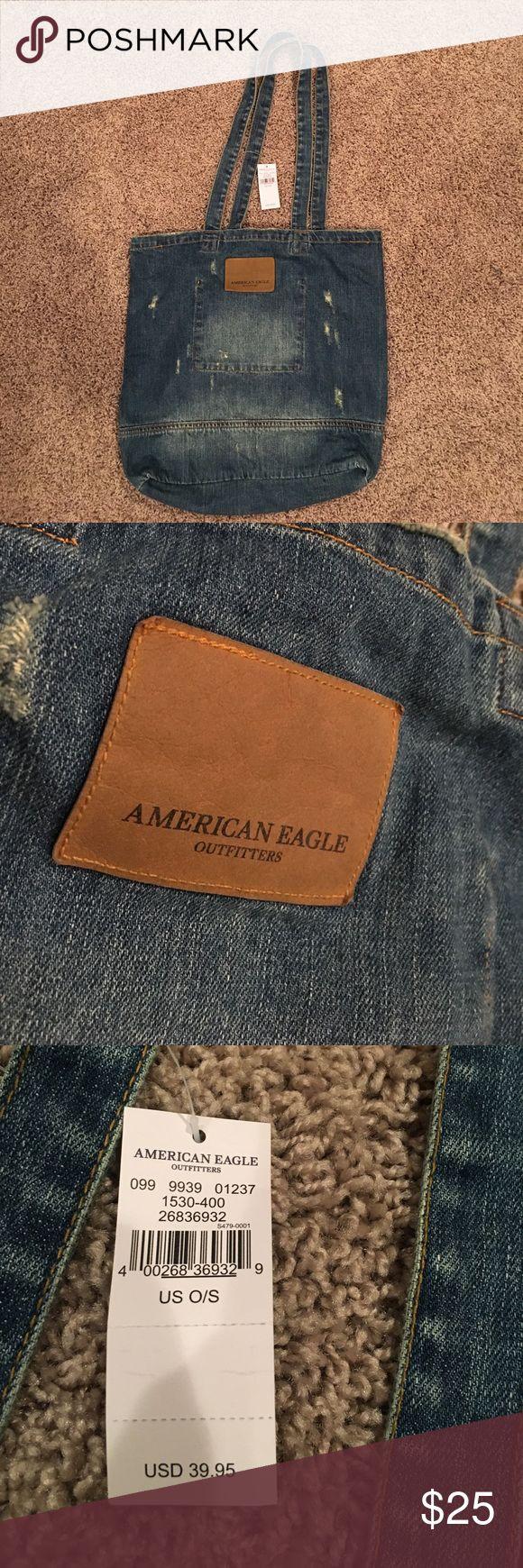 American Eagle denim purse - Denim purse  - Great for the beach - Brand new - Originally $40 - Never used - American Eagle American Eagle Outfitters Bags Shoulder Bags
