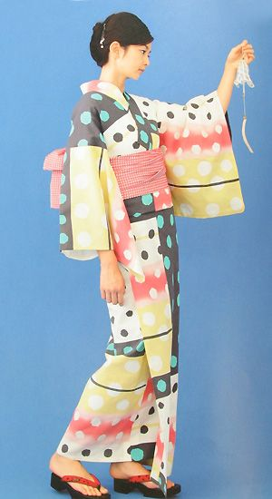 Polka Dot Yukata - Quite Unique Fabric