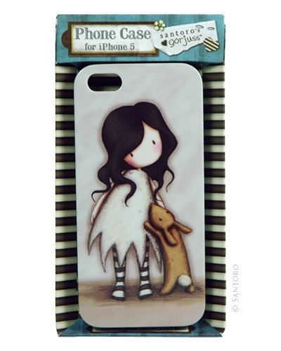 Gorjuss iPhone 5 Hard Case - I Love You Little Rabbit Free wallpaper download is included to match the phone cover.