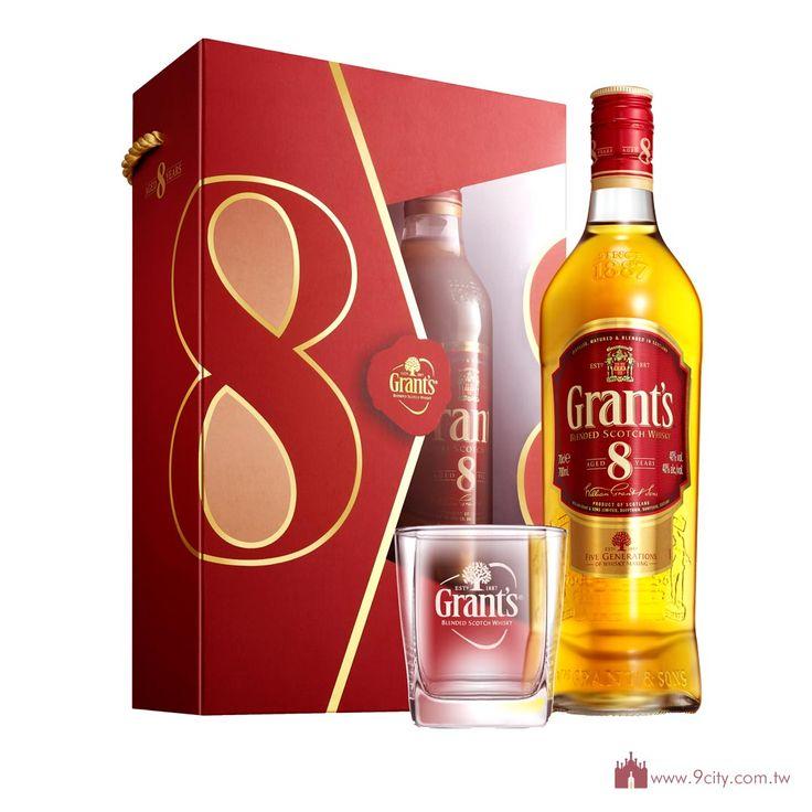 Grant's 格蘭 【春節2016】蘇格蘭 格蘭 8年 威士忌 禮盒:洋酒城洋酒量販連鎖