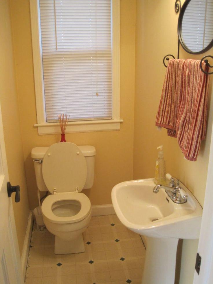 Best 25 half bathrooms ideas on pinterest shelves above - Half bathroom decorating pictures ...