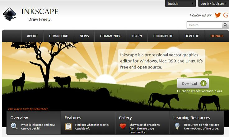 Inkscape is an opensource vector graphics editor similar