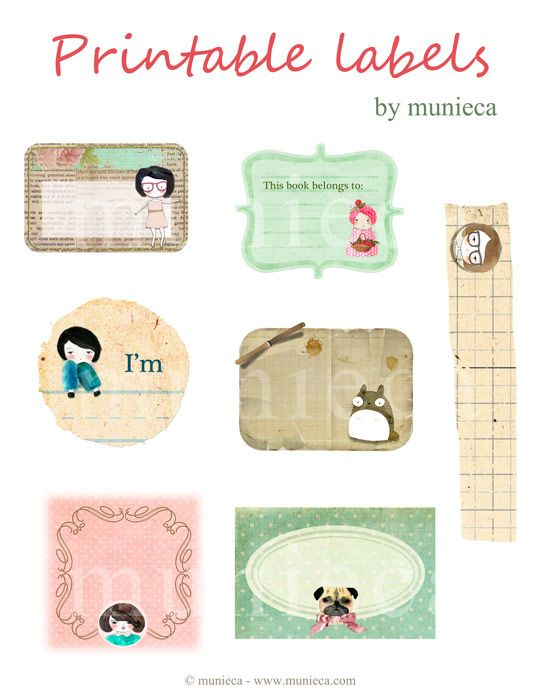 Printable Labels by Munieca