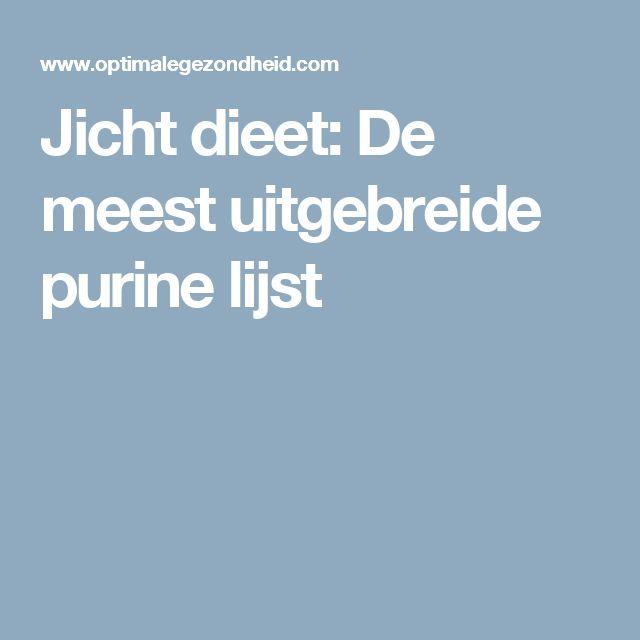 Jicht dieet: De meest uitgebreide purine lijst