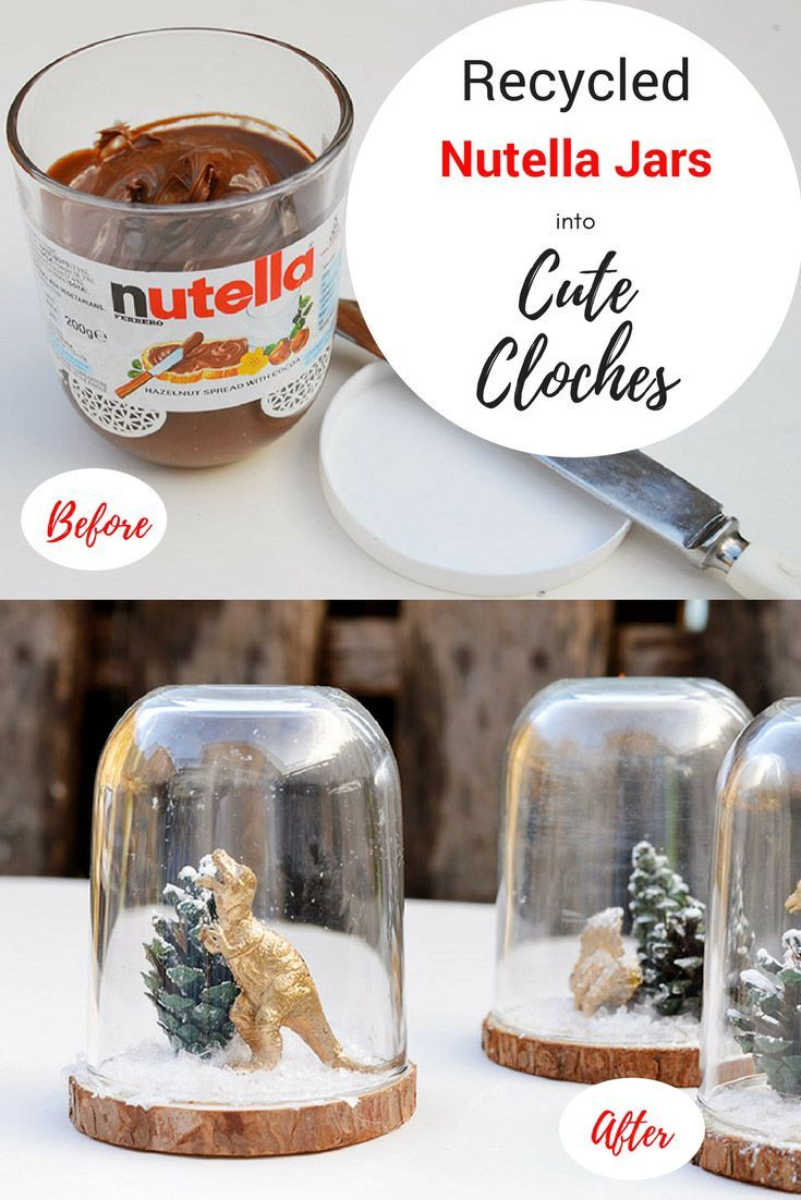 Add A Bit Of Fun To You Christmas Decorations By Repurposing An Nutella Jar Into A S Recycled Christmas Decorations Recycled Christmas Gifts Homemade Christmas