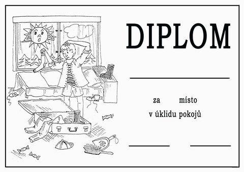 Diplom - úklid pokojů