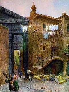 Torre dei Grassi al Portico di Ottavia - Ettore Roesler Franz