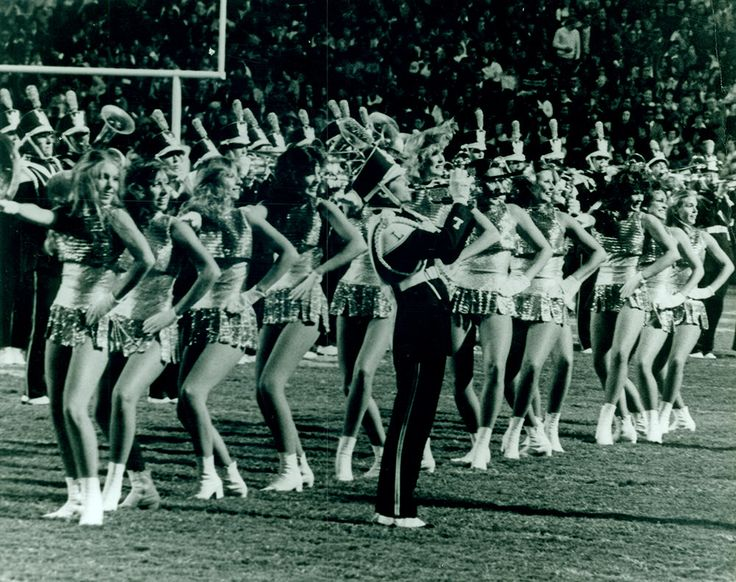 https://flic.kr/p/CWDYtq | Golden Girls c. 1978 | Golden Girls mid-routine in Tiger Stadium on game day.  c. 1978  Office of Public Relations Records, RG A0020, Louisiana State University Archives, LSU Libraries, Baton Rouge, La.  LSU Athletics on the Louisiana Digital Library: louisianadigitallibrary.org/cdm/search/collection/LSU_UAP...  LSU University Archives: www.lib.lsu.edu/special/archives