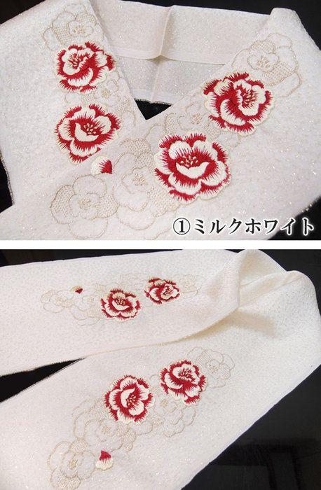 半衿刺繍正絹振袖日本製砂子薔薇成人式結婚式フォーマル美品T11k902r