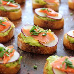 Avocado and Smoked Salmon Crostini with Vanilla Salt #foodgawker