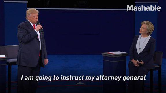 Trump threatens Clinton with jail in savage presidential debate