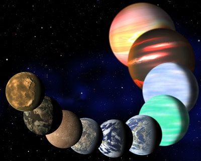 Ilustración artística del a variedad de planetas detectados por la NASA.- C. Pulliam & D. Aguilar (CFA)