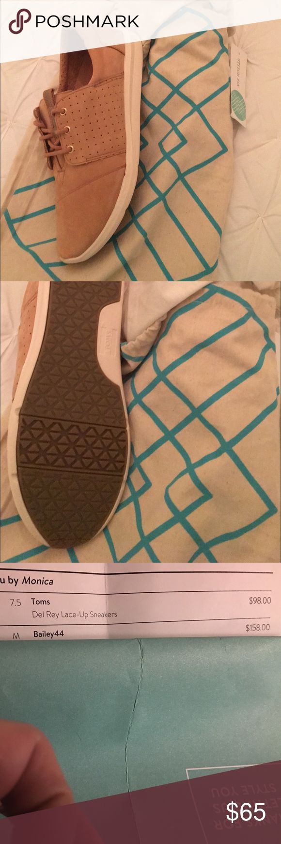 NWT stitch fix toms size 7.5 NWT toms from stitch fix size 7.5 TOMS Shoes Sneakers