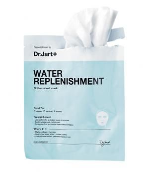 Dr. Jart+ Water Replenishment Mask Each sheet is soaked with chamomile flower water and hyaluronic acid.  Sephora