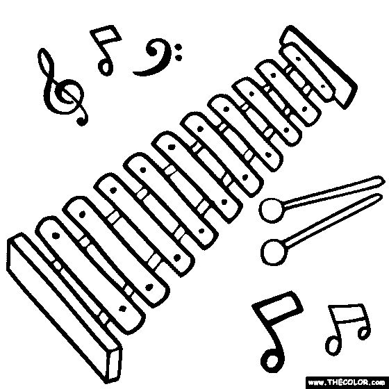 Xylophone Coloring Page