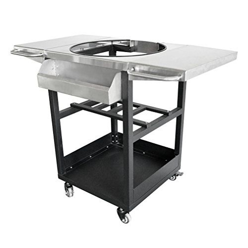onlyfire Universal Porcelain Steel Table Top Grill Cart