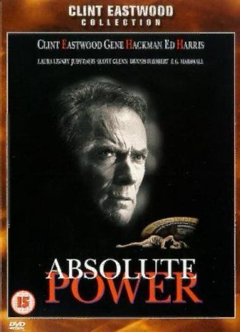 *ABSOLUTE POWER, (1997), Poster:  A career thief witnesses a horrific crime involving the U.S. President.  Starring: Clint Eastwood, Gene Hackman + Ed Harris