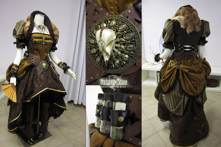Steampunk Pirate by ~Lillyxandra on deviantART  I ADORE this outfit. Fantastic colors, textures, and originality.