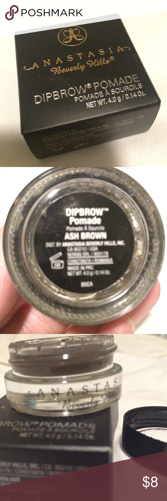 Anastasia Beverly Hills Dipbrow Pomade - ASH BROWN I purchased this & it turned out to be too dark for my eyebrow color. Only been used twice. ***99% of the product is left!  Color: ASH BROWN Anastasia Beverly Hills Makeup Eyebrow Filler