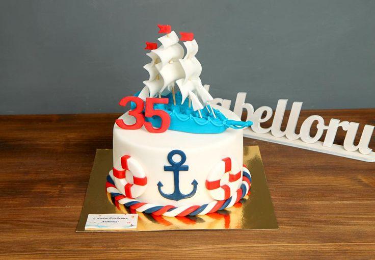 """Торт """"Корабль""""  Красивый торт, который порадует не только своим внешним видом, но и вкусом❗️ Порадуйте своего моряка тортом #корабль🚢 который станет настоящим украшением любого праздничного стола!            С удовольствием изготовим торт для вашего праздника от 2-х кг и всего за 2150₽/кг😊 Стоимость #фигуркаизмастики корабля 500₽.    Специалисты #Абелло готовы помочь с выбором красивого и качественного десерта по любому поводу по единому номеру: +7(495)565-3838 Телефон/WhatsApp/Viber…"""