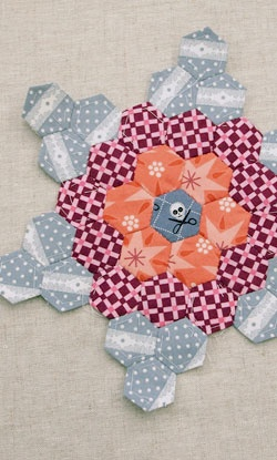English paper piecing pattern that is a little different.