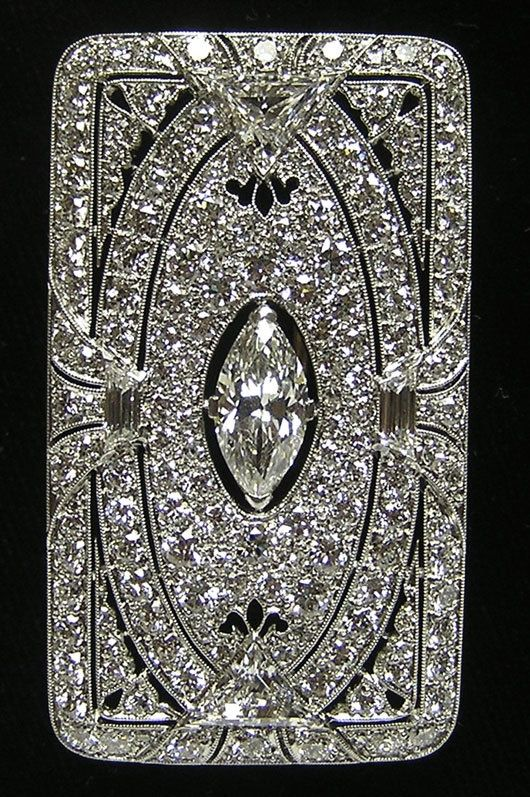 TIFFANY AND COMPANY  BROOCHES | RARE Art Deco Tiffany Co Platinum Diamond Brooch | Jewelry