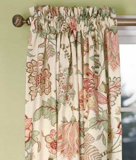 Soft English Floral Lined Rod Pocket Curtains - Pair Was: $149.95 - $199.95 …