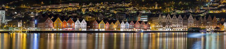 "Wharf in Bergen - Photo of the wharf named ""Bryggen"" in Bergen, Norway."