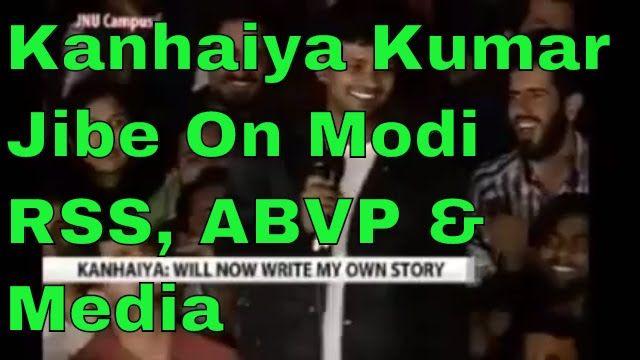 Kanhaiya Kumar JNU Jibe on Modi-RSS-ABVP & Media After Getting Bail 3 Ma...
