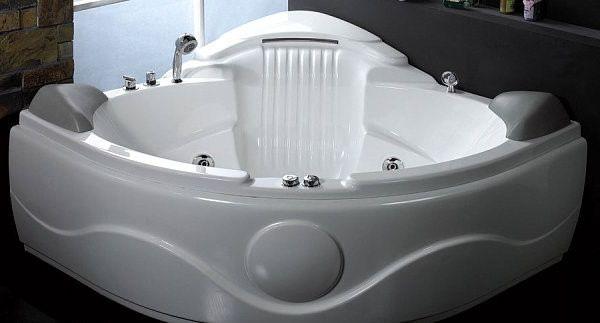 Ecke Whirlpool-Badewanne für zwei