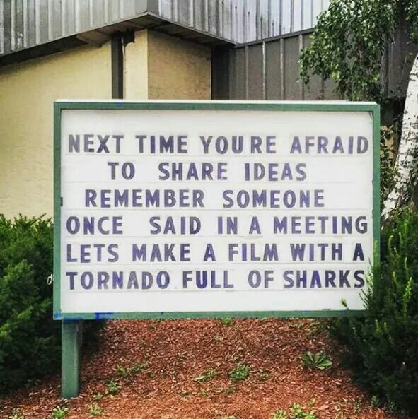 Any of you who have seen the movie Sharknado understand this! - That also means that you wasted two hours of your life on absolute trash though...