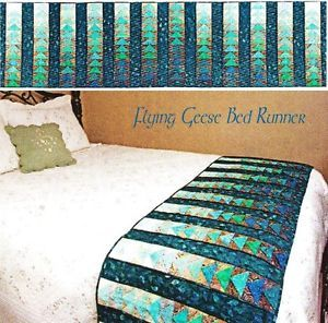 I love the gradient color. Quilt Pattern Flying Geese Bed Runner Quilting Pattern from Magazine | eBay