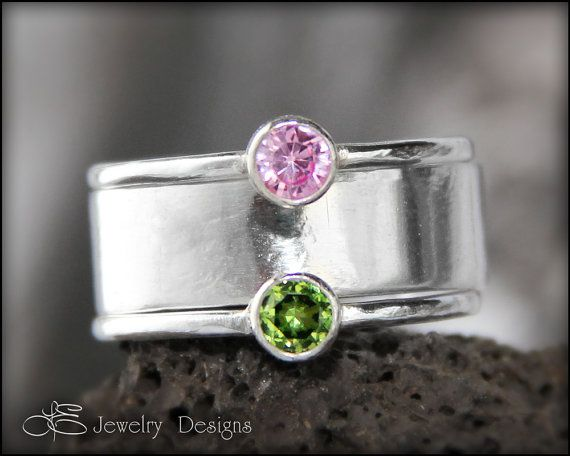 Hey, I found this really awesome Etsy listing at https://www.etsy.com/listing/161343296/3-ring-set-birthstone-gemstone-stacking